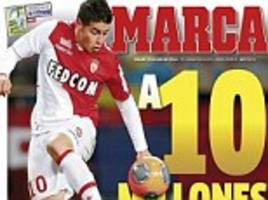 CONTINENTAL BREAKFAST: James Rodriguez on verge of joining Real Madrid but Monaco want more